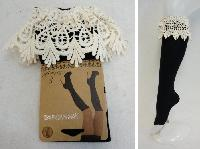 Boot Socks Wide Lace [Black Only]